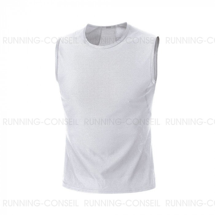 3c4a9ab8311a3 GORE® BASE LAYER DÉBARDEUR HOMME | WHITE | Collection Printemps-Été 2019