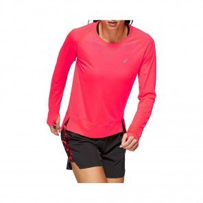 ASICS Tee-Shirt manches longues sans coutures femme | Lazer pink