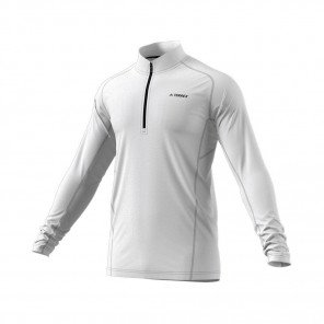 ADIDAS Tee-Shirt manches longues 1/2 Zip TRACEROCKER Homme | Blanc