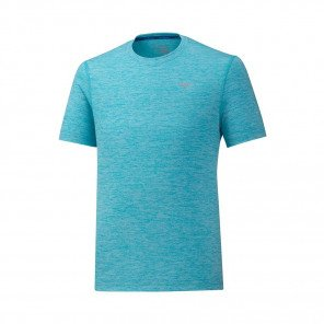 MIZUNO Tee-Shirt manches courtes IMPULSE CORE Homme | Peacock Blue | Collection Printemps-Été 2019