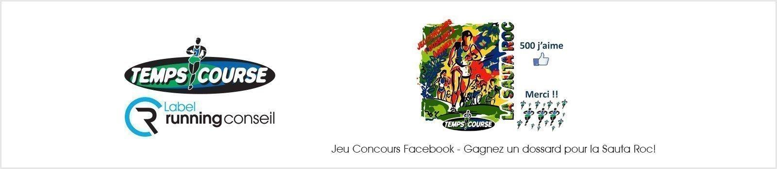 Jeu Concours Facebook - Gagnez un dossard pour la Sauta Roc!