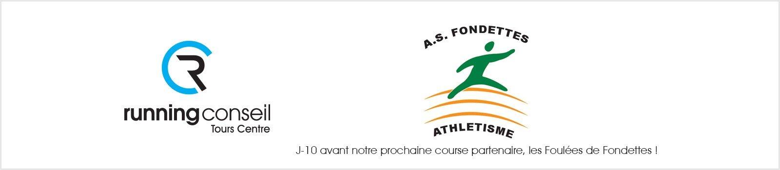 J-10 avant notre prochaine course partenaire, les Foulées de Fondettes !